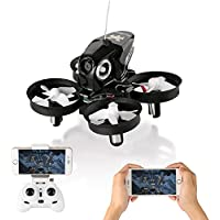 RC Quadcopter Drone Mini Quadcopter Drone with Camera, Furibee FPV Mini Drone H801 Wifi FPV RC Drone 2.4GHz with 720P Camera One Key Return-Black