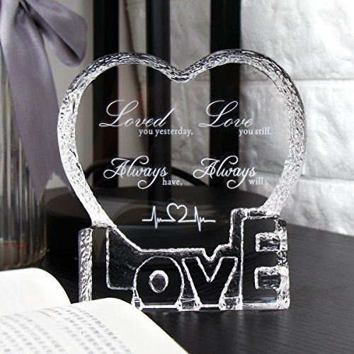 YWHL Love Crystal Sculpture gifts for Anniversary,Wedding,Valentine's Day by YWHL (Image #3)