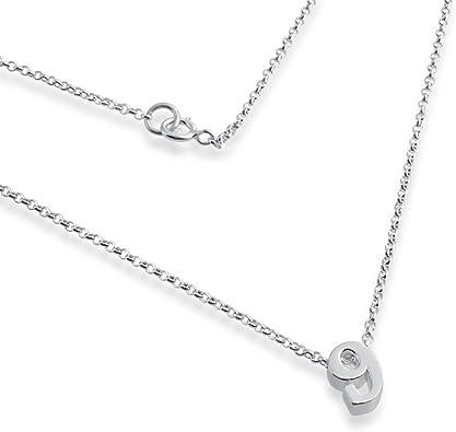 Sterling Silver Womens 1mm Box Chain Mini Horseshoe Pendant Necklace