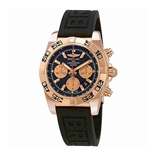 Breitling Chronomat 44 Black Dial Black Rubber Mens Watch HB0110C1/B968BKPD3