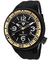 Swiss Legend Men's 21818P-BB-01-GA Neptune Black Dial Black Silicone Watch by Swiss Legend
