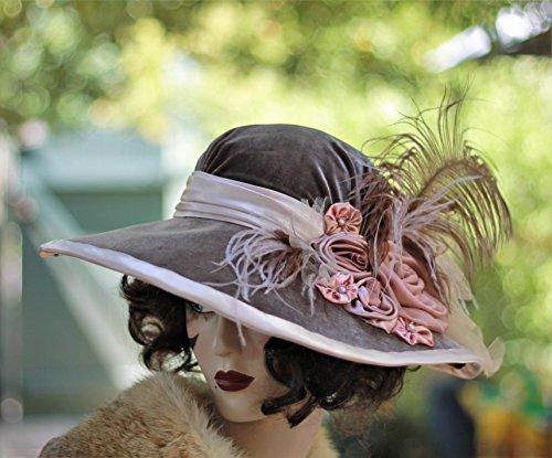 Wide Brim Victorian Formal Wedding Hat by Hats by Gail