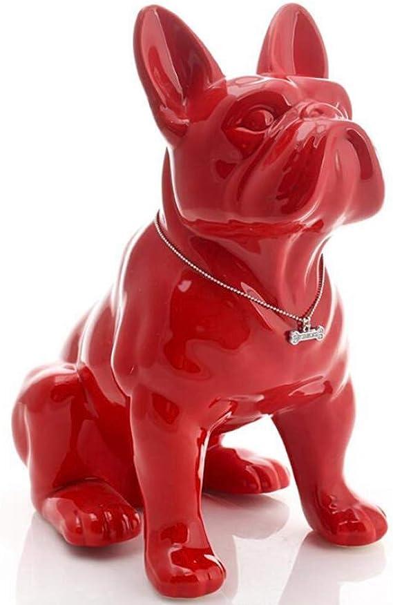 2 stücke Lebendige Harz Französisch Bulldogge Figur Garten Statue Kreative