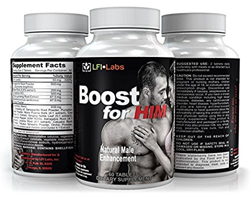 Male Enhancement Supplement Super Stack — Boost for Him & Boost Hard — Ultimate Enhancing Pills for Increasing Size. Men's Test Boosting Caps for Gains. Horny Goat Weed + Maca Root by LFI Labs (Image #3)