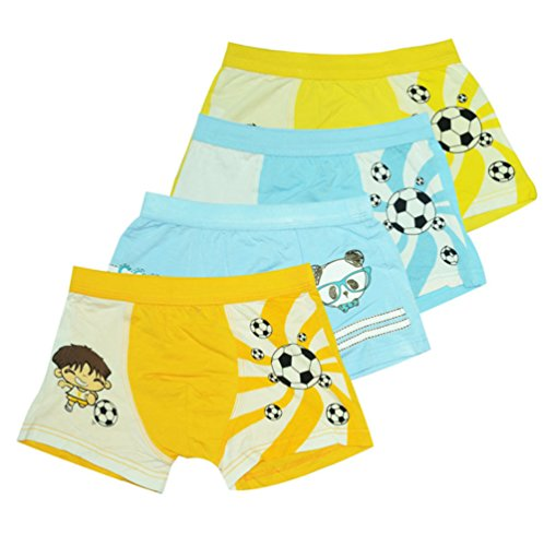 2-8 Years Old Boys Soccer Print Boxer Briefs Cotton Underwear 4 (Print Soccer Boxers)