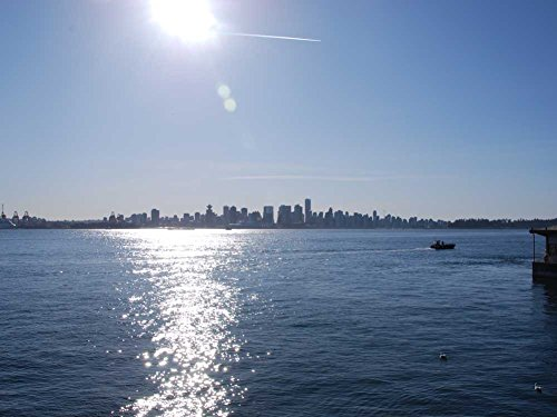 Downtown Vancouver from Londsdale Quay - Art Print on Canvas (50x70 CM, unframed)