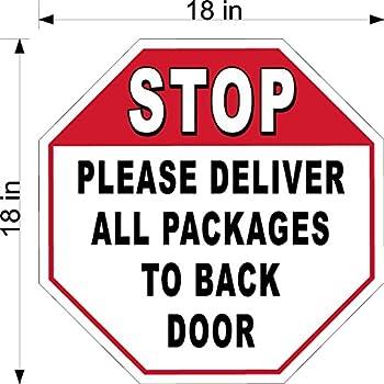 Amazon Com 18 Quot X 18 Quot 063 Alum Stop Sign All Deliveries