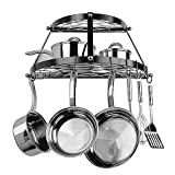 Range Kleen Double Shelf Wall Mounted Pot Rack in Black