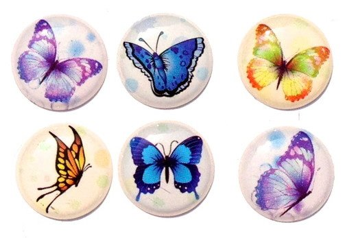 Beautiful Full Grown Monarch Butterfly Home Button Stickers for iPhone 5 4/4s 3GS 3G, iPad 2, iPad Mini, iTouch 6 Pieces