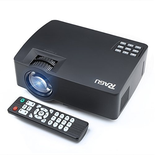 "Smartphone Projector for iPhone Android Tablet, RAGU Z480 Mini Portable Video Projectors via Wired USB Data Cable Support HD 1080P, Max 130"" Screen Optical USB/AV/SD/HDMI/VGA Interface LED Projector"