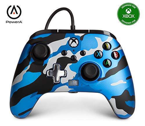 PowerA geavanceerde bedrade controller voor Xbox Series X|S – metallic blauw Camo