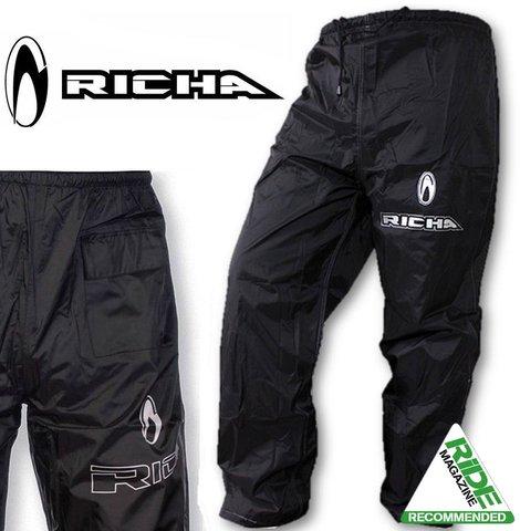 Richa Rain Warrior, pantaloni da moto, impermeabili, colore nero 12, XL 5415033042180