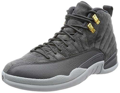 Jordan Men's Air 12 Retro, Dark Grey/Dark Grey-Wolf Grey, 12 M US by Jordan