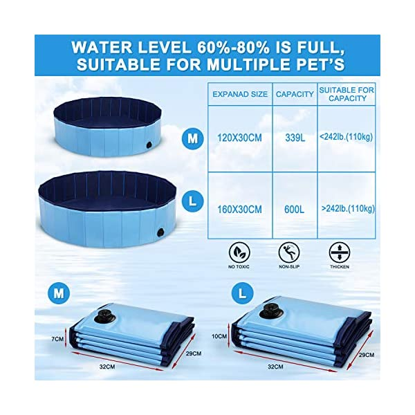 Winipet Foldable Dog Paddling Pool 6