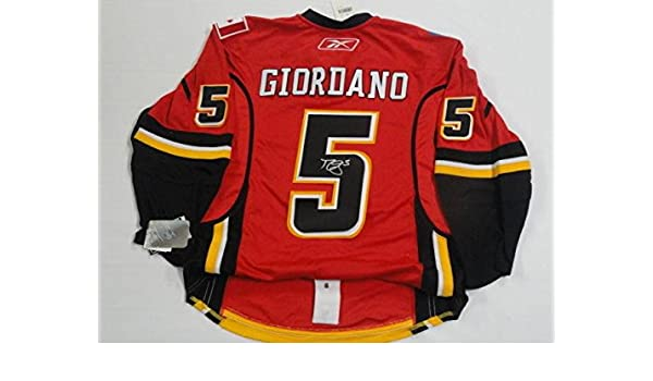 best website 38582 b226b Signed Mark Giordano Jersey - Reebok Edge Game Coa - JSA ...