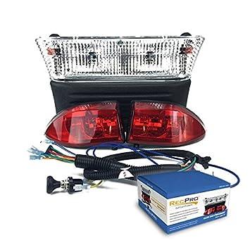 Amazon recpro club car precedent golf cart light kit w led recpro club car precedent golf cart light kit w led tail lights for years 2004 sciox Gallery