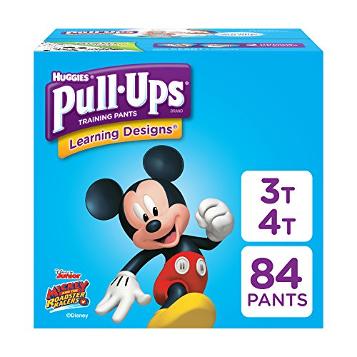 Pull-Ups Learning Designs, 3T-4T (32-40 lb.), 84 Ct. Potty Training Pants for Boys, Disposable Potty Training Pants for Toddler Boys (Packaging May Vary)