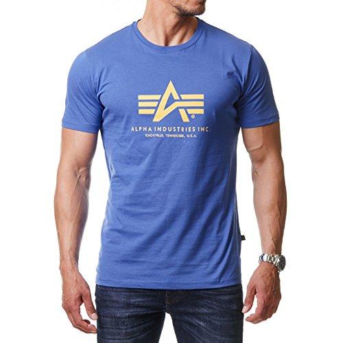 Industries Taille 100501 Alpha Basic Manches Bleu T Courtes shirt Homme Normale qPdPn1FwT