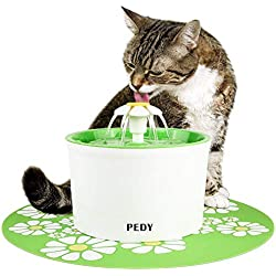 Pedy Cat Water Fountain, 1.6L Automatic Flower Water Fountain, Pet Water Fountain for Cats and Dogs with Carbon Filter