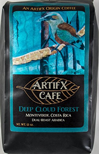 Artifx Cafe Deep Cloud Forest, Monteverde Costa Rica Coffee - 12 oz, Ground - Nature Friendly