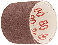 "Gator Finishing 6087 80 Grit Aluminum Oxide Drum Sanding Sleeves (3 pack), 1.5"" x 1.5"""