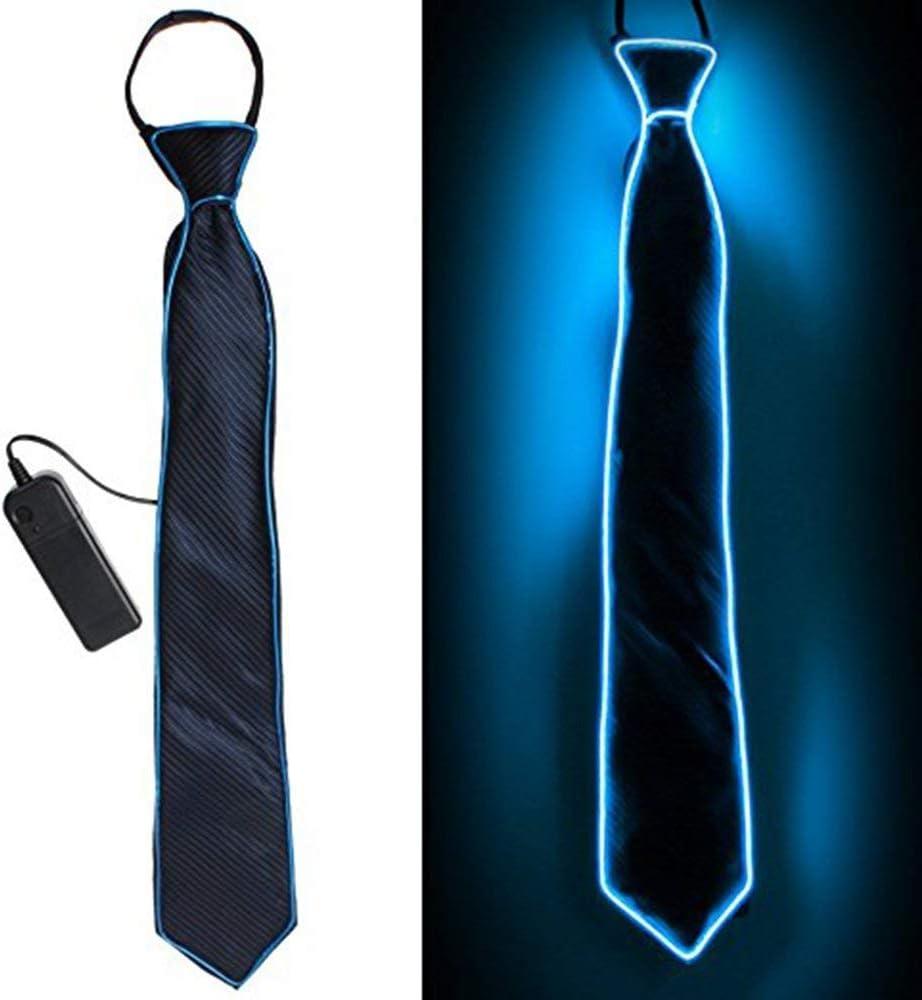Halloween Fiestas de LED Navidad ect Xrten Corbata Luminosa led Ajustable con 3 Modos de Flash para Fiestas de Disfraces
