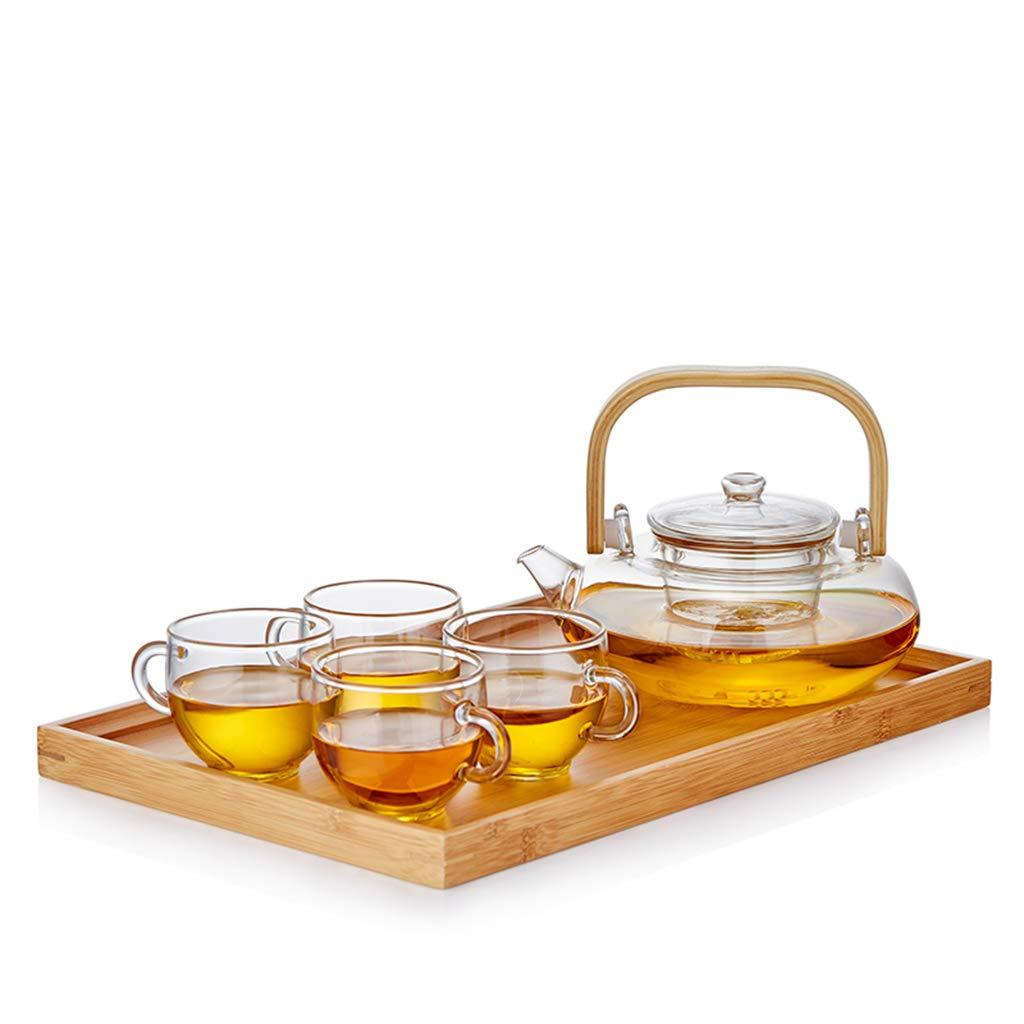 コーヒーカップ ティーポット、ホームリビングルームガラス茶セットミーティングルームオフィスティーポット容量:800ml ティーセット (色 : D) B07QYVFCB4 D