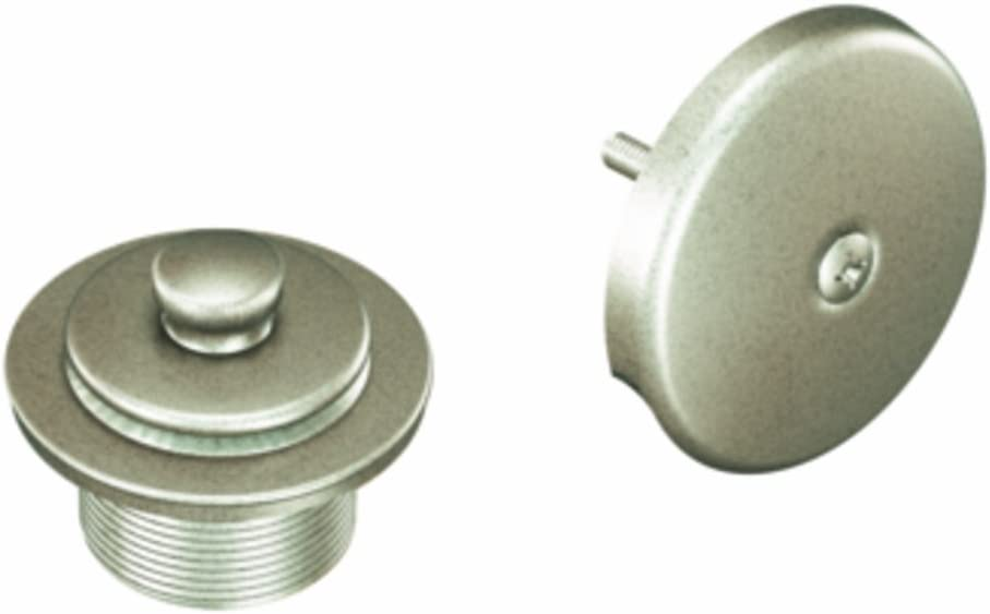Moen T90331 Push-N-Lock Tub and Shower Drain Kit with 1-1/2 Inch Threads, Chrome - Sink And Drain Equipment -