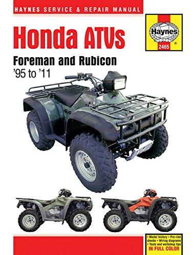 Honda ATVs Foreman and Rubicon '95 to '11 (Haynes Service & Repair Manual)