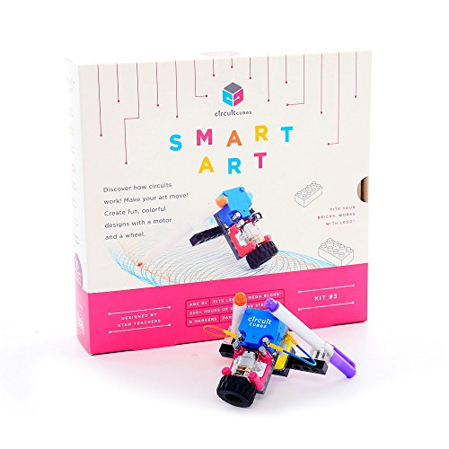 Circuit Cubes Smart Art Educational Stem Learning Toy for Kids Creative Steam Toy (35 Piece), Multicolor
