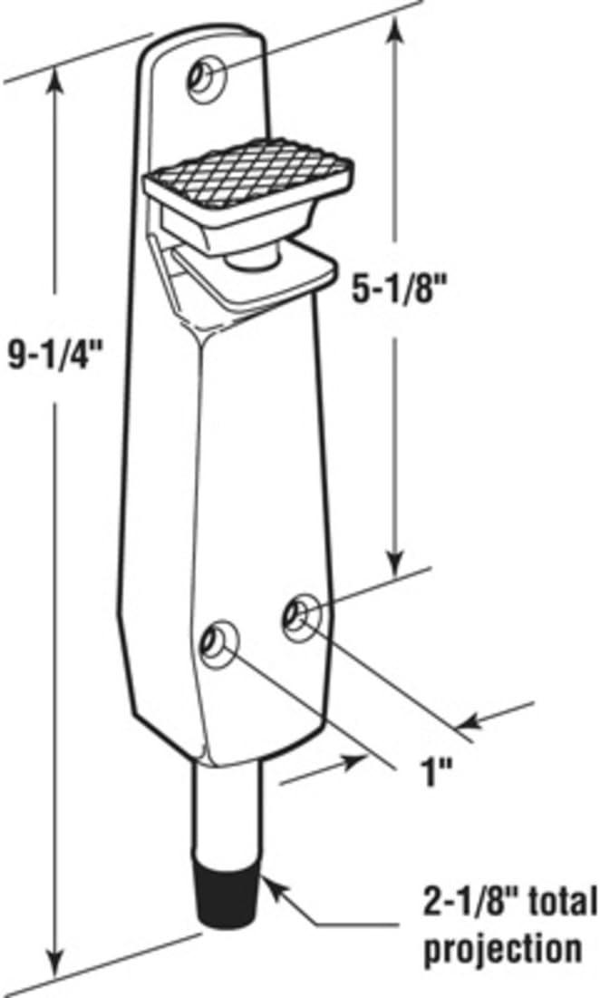 Door Mounted Brass Finish Step-On Door Holder