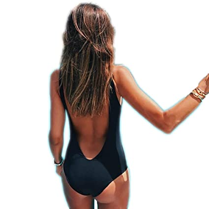 c4c49368ce299 Hot Sale! Women's Sexy One Piece Swimsuit, Howstar Backless Push Up Padded  Bra Swimwear