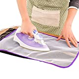 HighlifeS_ Ironing Board Clothes Protector The Ironing Board Clothes Protector Insulation Clothing Pad Laundry Polyeste No Melt Pressing Cloth for Easy Ironing and Protection Purple
