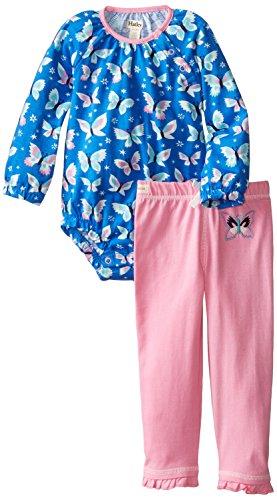 Hatley Bodysuit Ruffle Legging Butterflies
