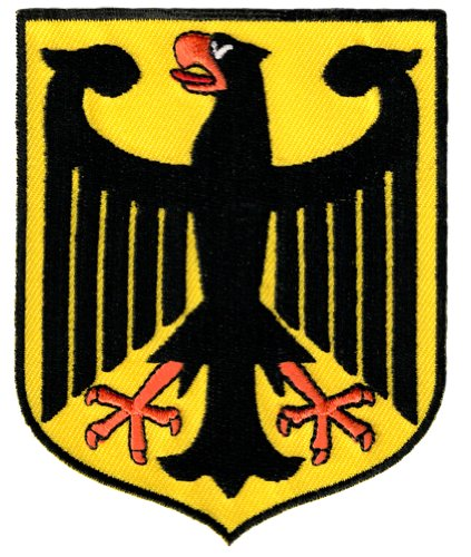 German Eagle Coat Of Arms - Germany Coat of Arms Patch German Eagle Shield Embroidered Iron-On Aufnäher