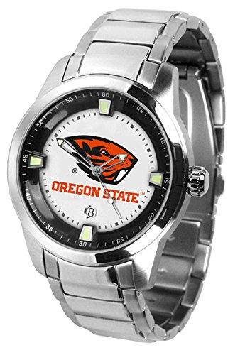 Oregon State Beavers OSU NCAA Mens Titan Steel Watch