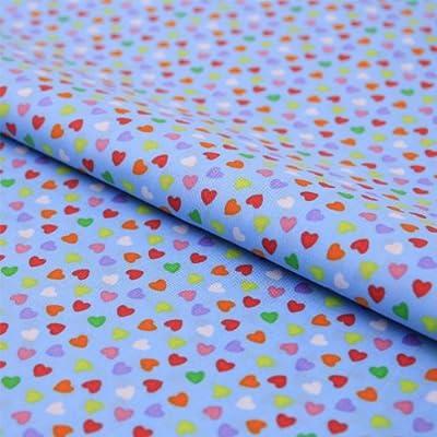 Colores Corazón de almohada tela algodón Popelina tela infantil ...