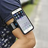 Sports Armband for Workout Forearm Wristband Phone Holder Compatible of Cellphones,Running,Armband Phone Holder for Cycling,Gym,Jogging(Black)