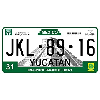 Mexico Yucatan Photo License Plate Free Personalization on This Plate