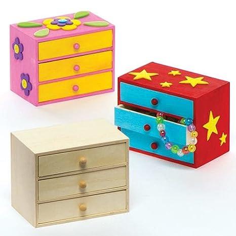 Baker Ross- Minicajoneras de Madera para Crear y Decorar (Pack de 2) -Juego de Manualidades Infantiles Creativas