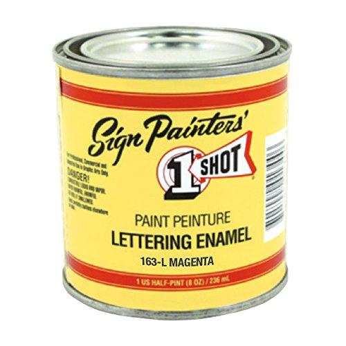 1 Shot Letter Enamel 163L Magenta 8 Oz