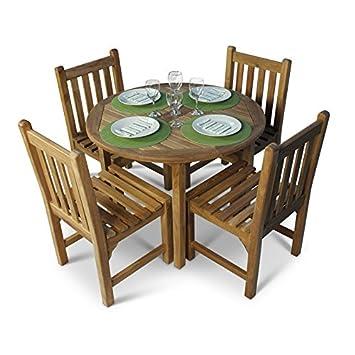 Petit Bistro Table de jardin ronde 4 places Table et chaises ...