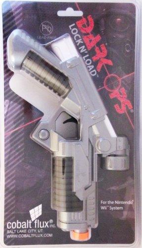 Cobalt Flux DARK OPS - LOCK 'N LOAD Wii Remote - Wii Blaster Nintendo Gun