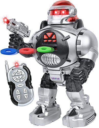 Click N' Play Remote Control Robot Fires Discs, Sings, Dances,Talks,Shoots, Slides and Entertains. ()