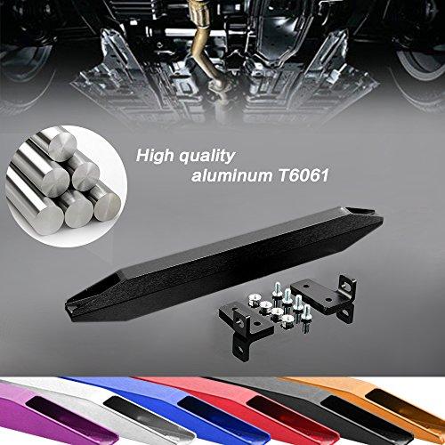 [Rear Aluminum Sub Frame Connector Tie Bar Brace 96-00 Honda Civic EK] (Subframe Connector Brace)
