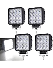 Hengda LED Arbeitsscheinwerfer 2 X 48W Zusatzscheinwerfer 12V 24V Offroad Scheinwerfer IP67 Wasserdicht Rückfahrscheinwerfer für Trecker KFZ Bagger SUV, UTV, ATV