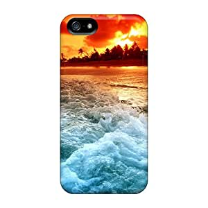 Durable Cases For The Iphone 5/5s- Eco-friendly Retail Packaging(fiery Sunset Beach)