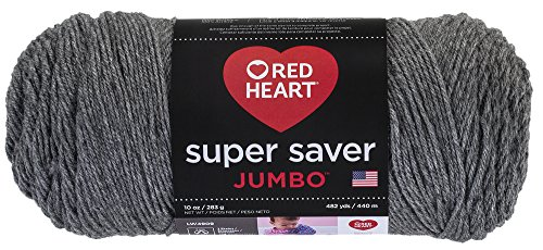 (Red Heart  Super Saver Jumbo Yarn, Gray Heather (E302C.0400))