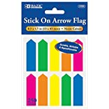 BAZIC 25 Ct. 0.5'' X 1.7'' Neon Color Arrow Flags (10/Pack), Case Pack of 144