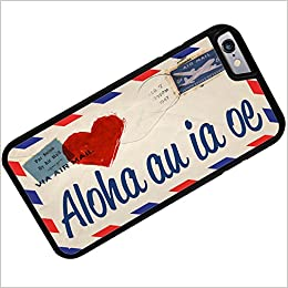 Rubber Case for iphone 6 I Love You Hawaiian Love Letter from Haweii -  Neonblond